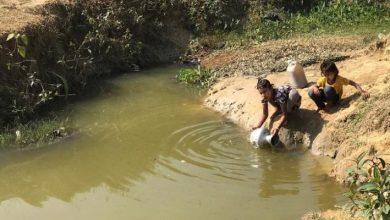 agua contaminada y agua potable